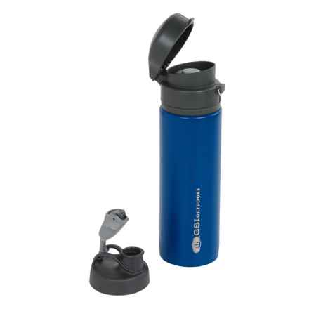 GSI Glacier Lineo Insulated Travel Mug with Interchangeable Lids - 18.5 fl.oz. in Blue - Closeouts