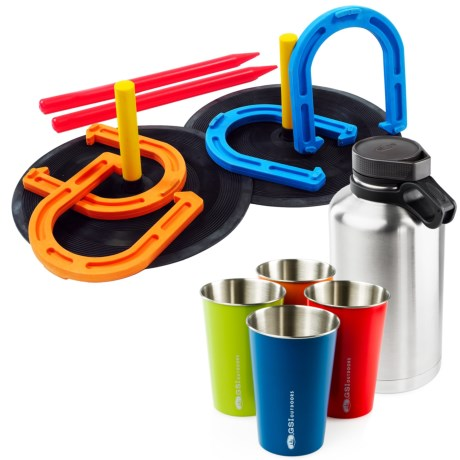GSI Outdoors Beer Kit with Horseshoe Set in See Photo