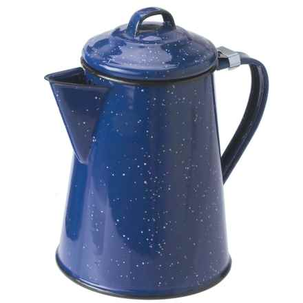 GSI Outdoors Enamelware Steel Coffee Pot - 12-Cup in Blue - Closeouts