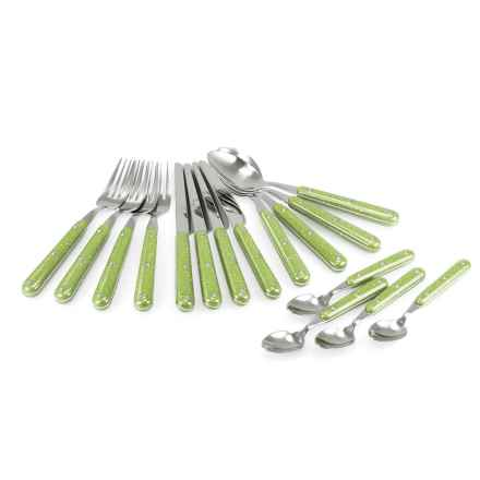 GSI Outdoors GSI Pioneer Cutlery Set - 16-Piece in Green - Closeouts