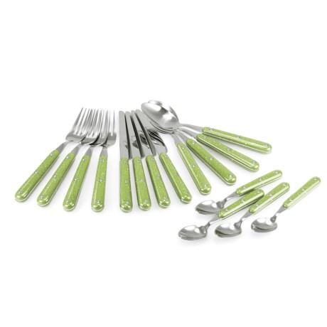 GSI Outdoors GSI Pioneer Cutlery Set - 16-Piece in Green