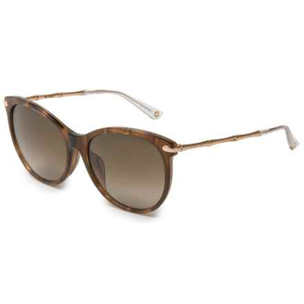 Gucci Fashion Cat's Eye Sunglasses (For Women) in Red Horn/Gold - Overstock