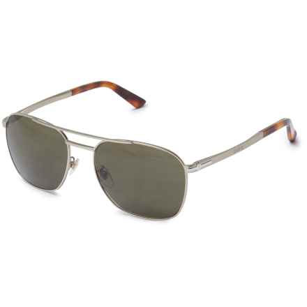 Gucci Metal Pilot Sunglasses in Light Gold - Overstock