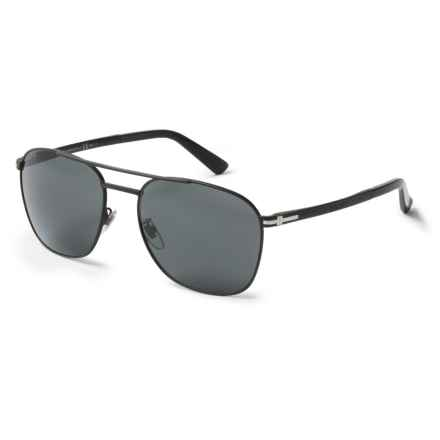 Gucci Metal Pilot Sunglasses in Matte Black - Overstock