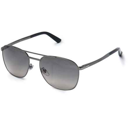 Gucci Metal Pilot Sunglasses in Matte Dark Ruthenium - Overstock