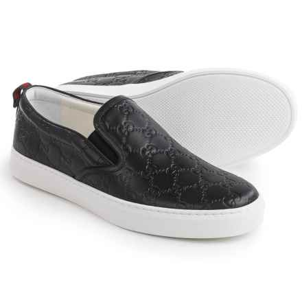 Gucci Signature Slip-On Sneakers (For Men) in Black - Closeouts