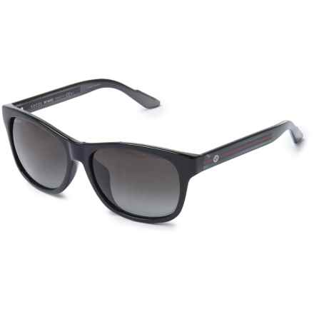 Gucci Wayfarer Sunglasses in Black/Grey - Overstock
