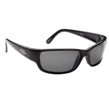 Guideline Current Sunglasses - Polarized in Shiny Black/Deepwater Grey - Closeouts