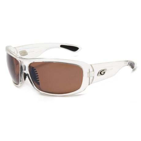Guideline Eyegear Alpine Sunglasses - Polarized in Clear Crystal/ Copper Lens/ Silver Flash
