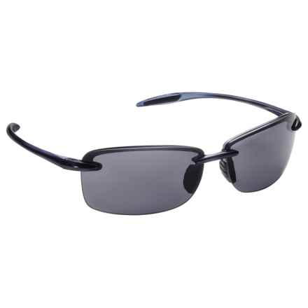 Guideline Eyegear Guideline Eyewear Del Mar Sunglasses - Polarized in Shiny Dark Blue /Deepwater Grey - Overstock