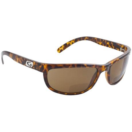 Guideline Eyegear Hatteras Bifocal Sunglasses - Polarized in Crystal Brown Tortoise/Freestone Brown