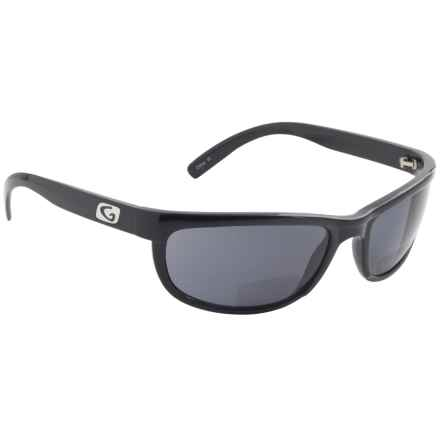 2873946c1a8a1 Guideline Eyegear Hatteras Bifocal Sunglasses - Polarized in Shiny  Black Deepwater Gray - Overstock