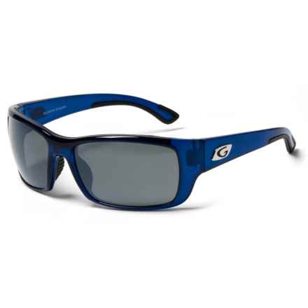 Guideline Eyegear Keel Sunglasses - Polarized in Crystal Blue/ Deepwater Gray/ Silver Flash - Overstock