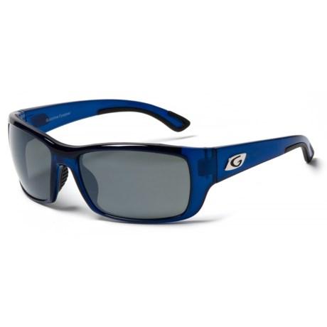 Guideline Eyegear Keel Sunglasses - Polarized in Crystal Blue/ Deepwater Gray/ Silver Flash