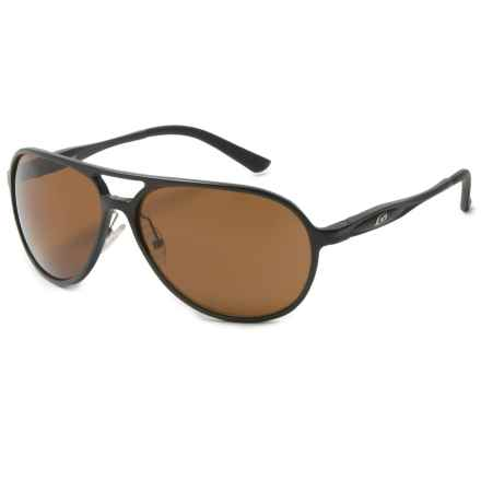 Guideline Eyegear Magnum Sunglasses - Polarized in Matte Black/Brown - Overstock