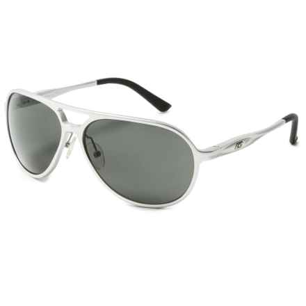 Guideline Eyegear Magnum Sunglasses - Polarized in Matte Silver/Gray - Overstock