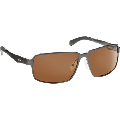 Guideline Eyegear Strike Sunglasses - Polarized in Matte Gunmetal/Brown