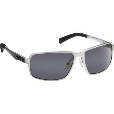 Guideline Eyegear Strike Sunglasses - Polarized in Matte Silver/Gray - Overstock