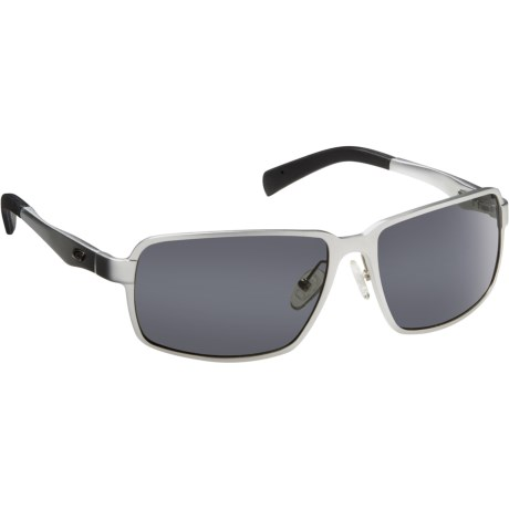 Guideline Eyegear Strike Sunglasses - Polarized in Matte Silver/Gray