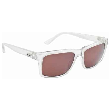 Guideline Eyegear Swell Sunglasses - Polarized in Crystal Clear/ Copper/Silver Flash Mirror - Overstock