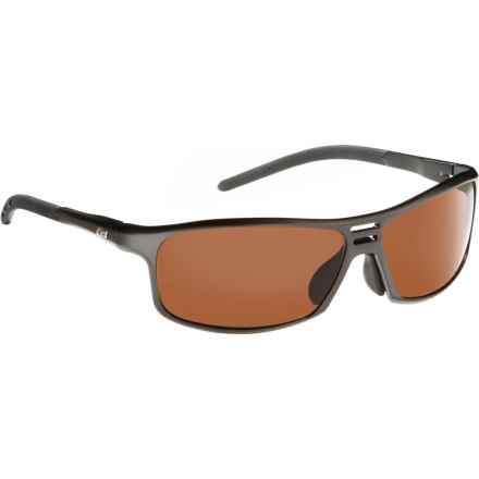 Guideline Eyegear Swift Sunglasses - Polarized in Matte Gunmetal/Brown - Overstock