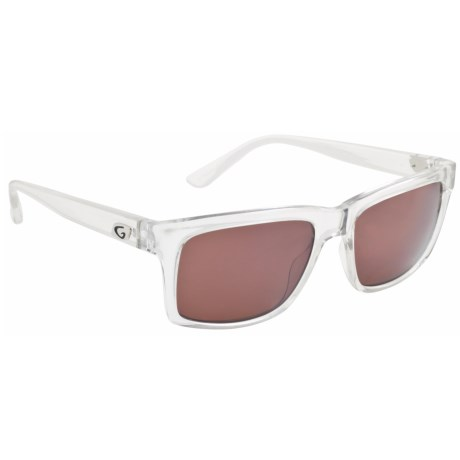 Guideline Eyewear Swell Sunglasses - Polarized in Crystal Clear/ Copper/Silver Flash Mirror