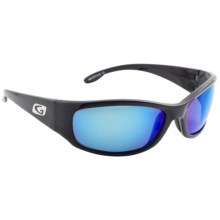 Guideline Kingfisher Sunglasses - Polarized, Deep Six Blue Mirror Lenses in Black/Grey/Polarized - Closeouts