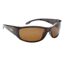 Guideline Kingfisher Sunglasses - Polarized in Tortoise/Freestone Brown - Closeouts