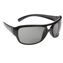 Guideline Pilot Fish Bifocal Sunglasses - Polarized in Shiny Black/Deepwater Grey - Closeouts