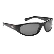 Guideline Rogue Sunglasses - Polarized in Shiny Black/Deepwater Grey - Closeouts