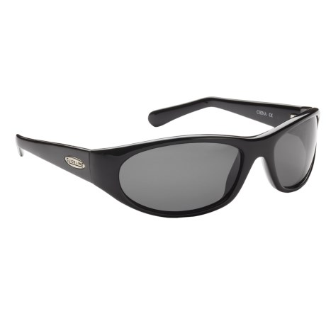 Guideline Rogue Sunglasses - Polarized in Shiny Black/Deepwater Grey