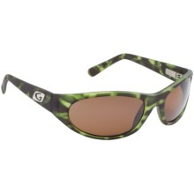 Guideline Rogue Sunglasses - Polarized, Silver Flash Mirrored Lenses in Matte Green Tort/Brown - Closeouts