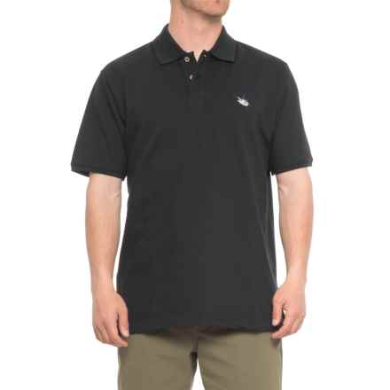 Guy Harvey Aftcool Micro Pique Polo Shirt - Short Sleeve (For Men) in Black - Closeouts