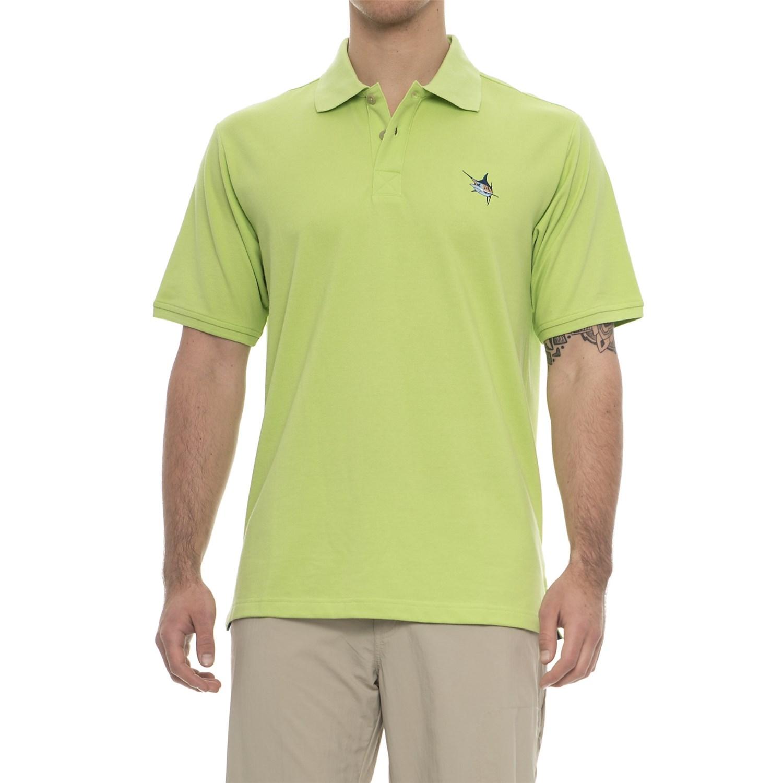 NWT Details about  /Guy Harvey Aftcool Micro Pique Polo Shirt Men Size Medium Swordfish