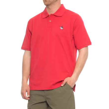 Guy Harvey Aftcool Micro Pique Polo Shirt - Short Sleeve (For Men) in Red - Closeouts
