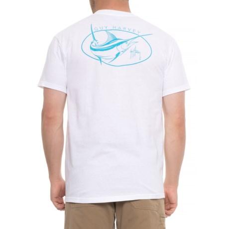 Guy Harvey Apex T-Shirt - Short Sleeve (For Men) in White