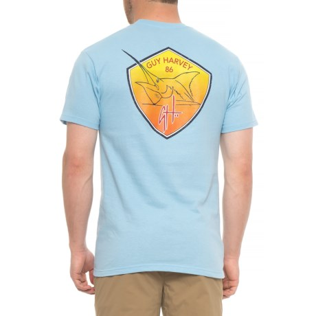 Guy Harvey Firecracker Graphic T-Shirt - Short Sleeve (For Men) in Light Blue