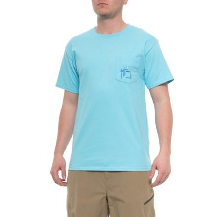 ef047bb4 Guy Harvey Flanking T-Shirt - Short Sleeve (For Men) in Pool Blue