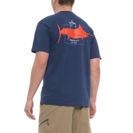 55d504051 Guy Harvey GH Logo T-Shirt - Short Sleeve (For Men) in Deep