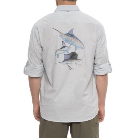 Guy Harvey Grand Slam Shirt - Long Sleeve (For Men) in Denim
