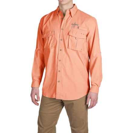Guy Harvey Grand Slam Tech Shirt - UPF 30+, Long Sleeve (For Men) in Melon - Closeouts