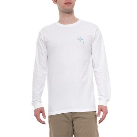 fd6f67261 Guy Harvey Initial Logo T-Shirt - Long Sleeve (For Men) in White