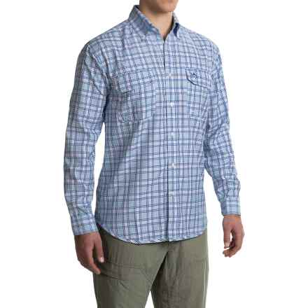 Guy Harvey Scripts Tech Shirt - Long Sleeve (For Men) in Blue - Closeouts