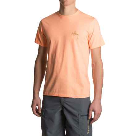 Guy Harvey Spotted Sea Trout Leaping T-Shirt - Short Sleeve (For Men) in Mango Heather - Closeouts