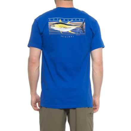 Guy Harvey Sunrise Graphic T-Shirt - Short Sleeve (For Men) in Royal - Closeouts