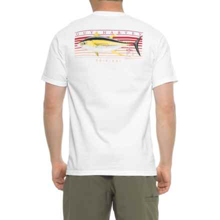 Guy Harvey Sunrise Graphic T-Shirt - Short Sleeve (For Men) in White - Closeouts