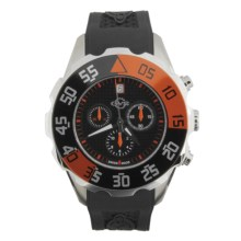 GV2 by Gevril Parachute Chronograph Watch - Rubber Strap in Black/Orange/Black - Closeouts