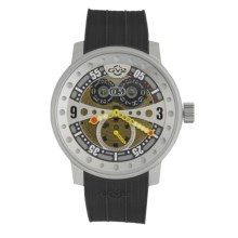 GV2 by Gevril Powerball Big Date Sport Watch - Rubber Strap in Multi-Color/Black - Closeouts