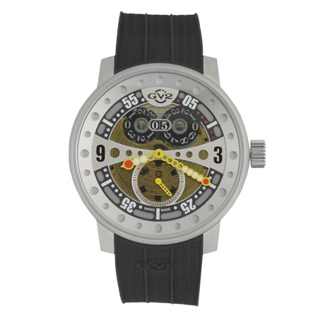 GV2 by Gevril Powerball Big Date Sport Watch - Rubber Strap in Multi-Color/Black