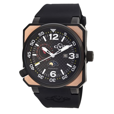 GV2 by Gevril XO Submarine Watch - Rose Gold in Black/Black